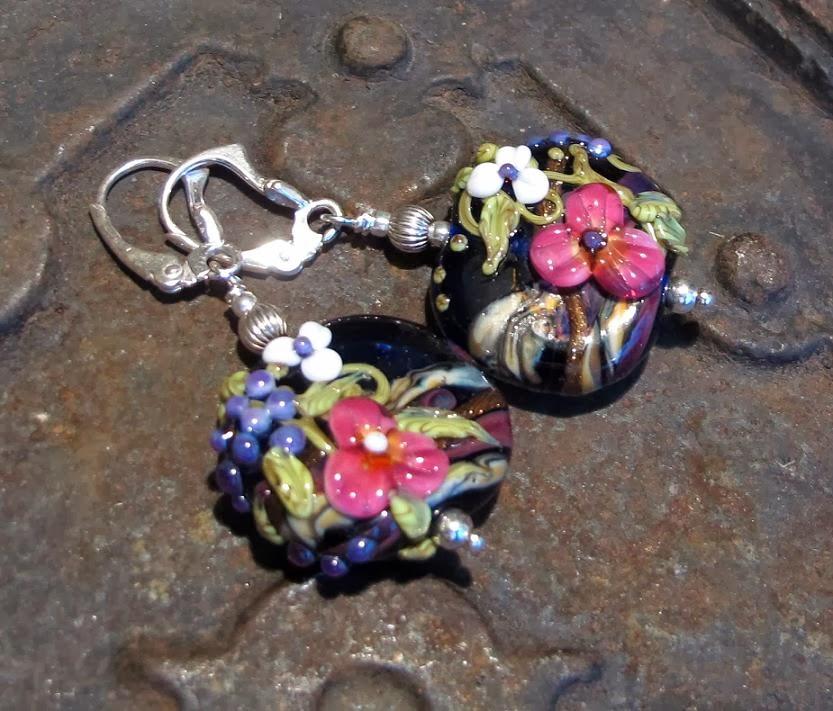handmade lampwork beads jewelry earrings