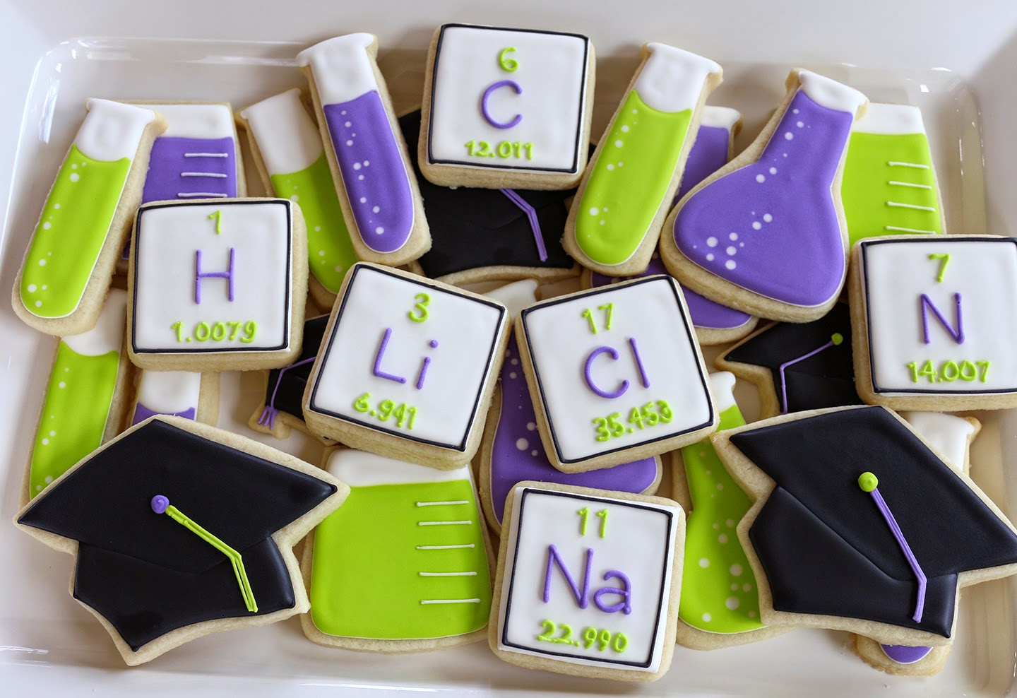 science graduation cookies