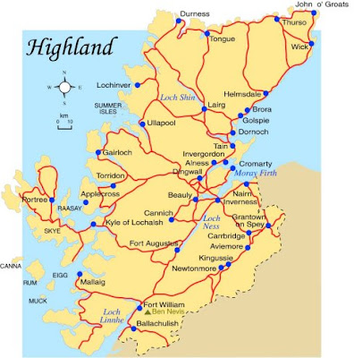 Map of Highland Province Pictures