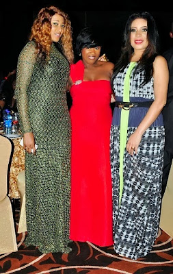 Rukky Sanda,Uche Jombo,Monalisa Chinda at Nollywood Movies awards 2013