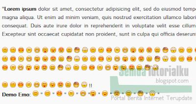 Menambah Emoticon di Postingan Blog Keren