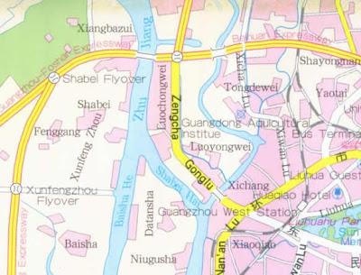 Guangzhou Map City of China