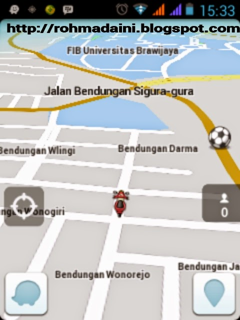 amplikasi peta kota yang bagus tampilannya