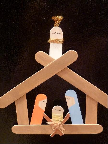 Christmas, Nativity, Popsicle Sticks