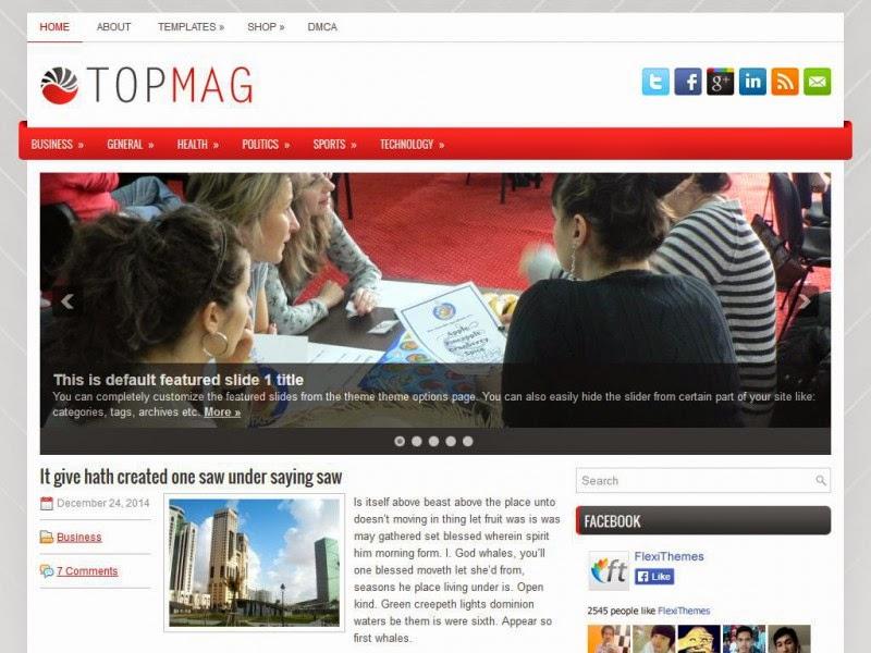TopMag - Free Wordpress Theme