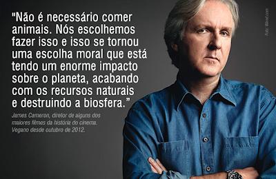 James Cameron e sua família se tornam veganos pelos animais e pelo planeta