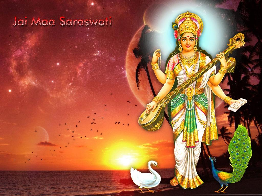 maa saraswati hd wallpapers - vidya ki devi hindu goddess pics | god