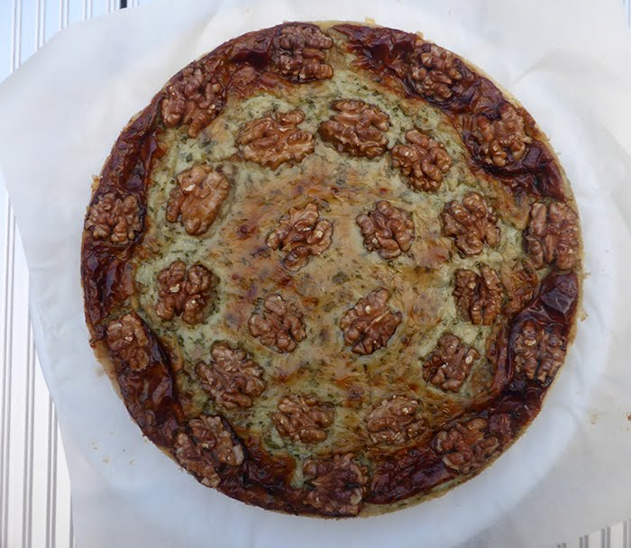 Crostata di gorgonzola e noci