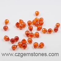 teardrop cubic zirconia stones orange red