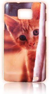 Buntes Handy Hülle Katze