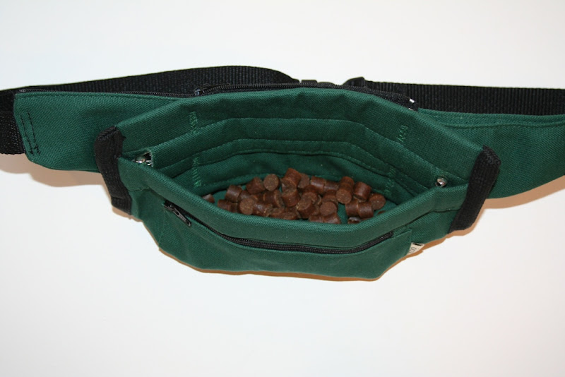 open pouch with treats shown inside