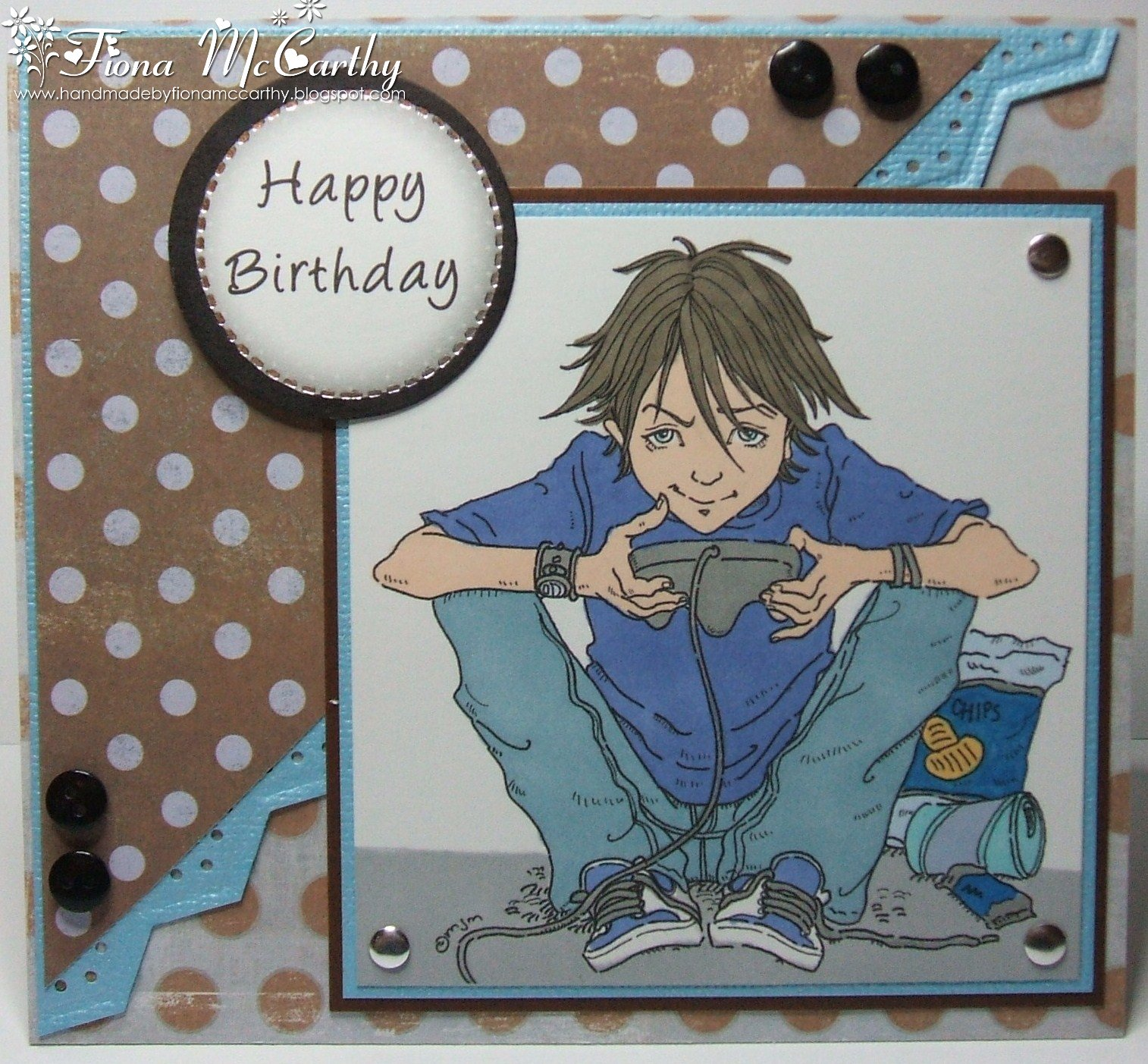 Handmade by fiona mccarthy another male birthday card another male birthday card bookmarktalkfo Gallery