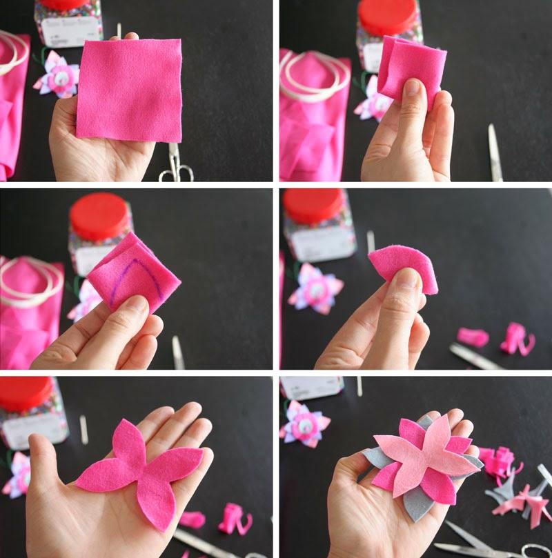 Taller de Creactividad: Diy diadema de flores de fieltro2