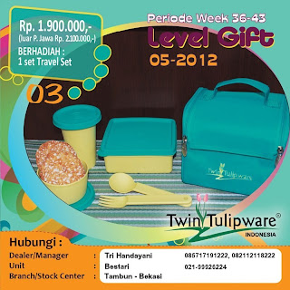 Level Gift Tulipware | September-Oktober 2012