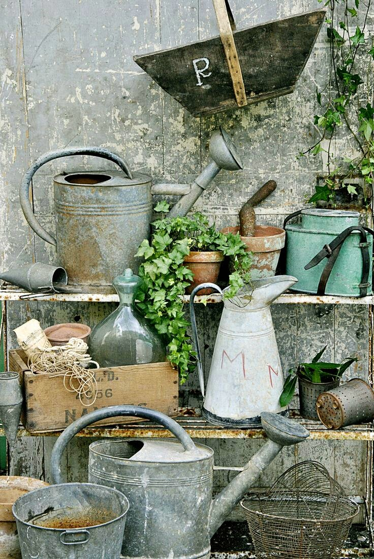 Old Galvanized Watering Cans