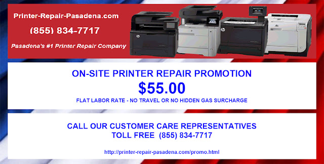 $55. ONSITE PRINTER REPAIR PROMOTION