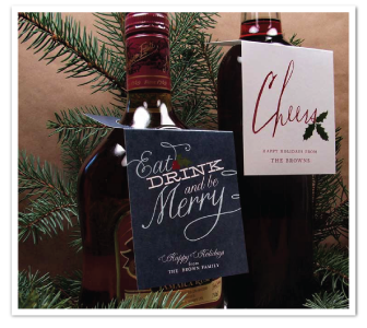holiday printable diy wine tags hostess gifts