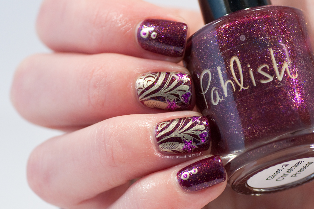 Pahlish Ghost Of Christmas Present Nail Art May Contain Traces Of
