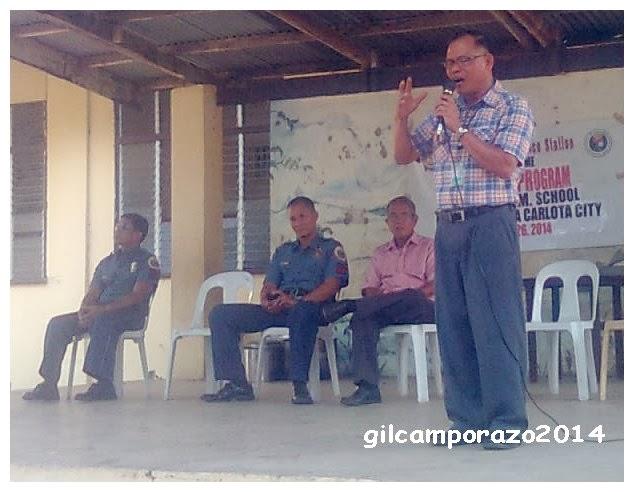 Pastor Gamboa speaking of 5 P's