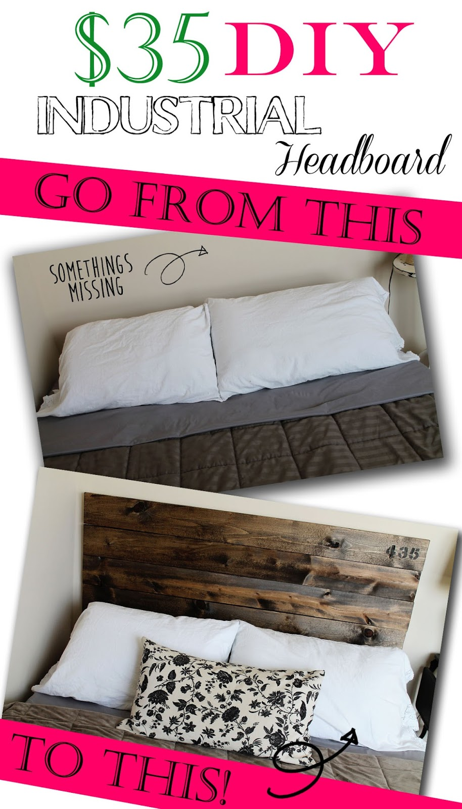 Confessions Of A New Old Home Owner 35 DIY Industrial Headboard