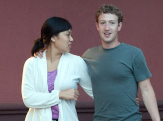 Priscilla Chan and zuckerberg close to each other