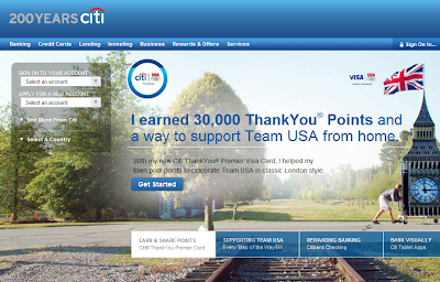 Citibank homepage