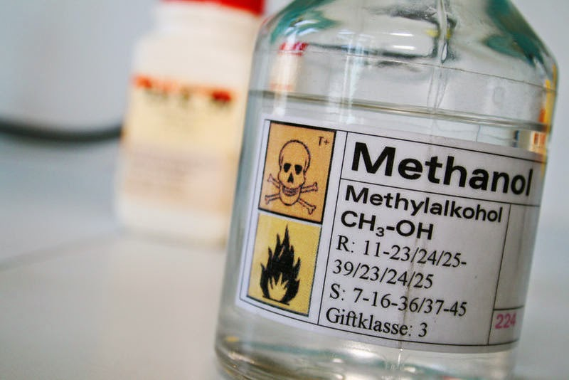 Image of a bottle of methanol