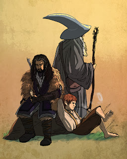 gandalf-thorin-bilbo-fan-art-by-obsessed