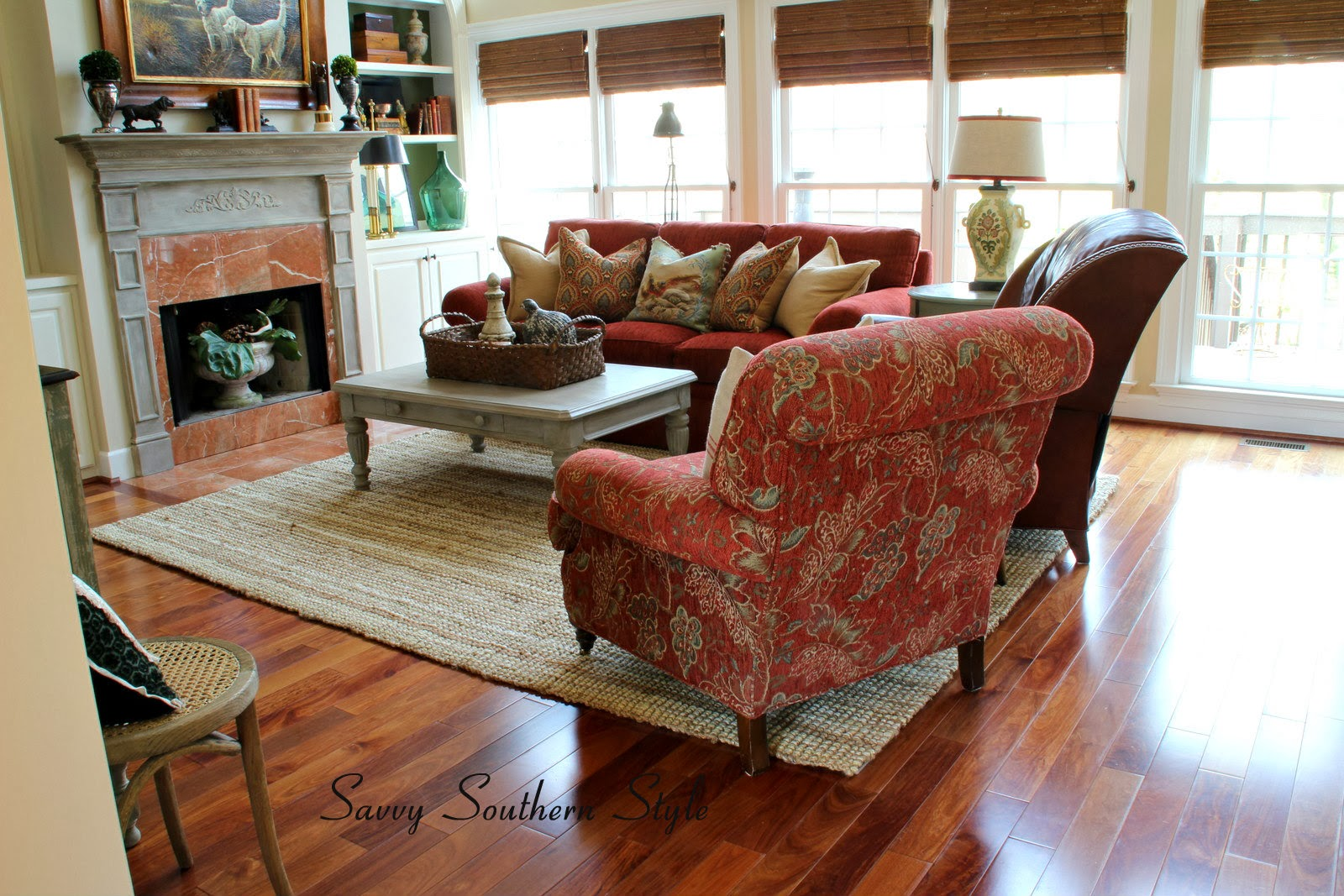 Jute Rug Living Room Savvy Southern Style I Think I Got It Right