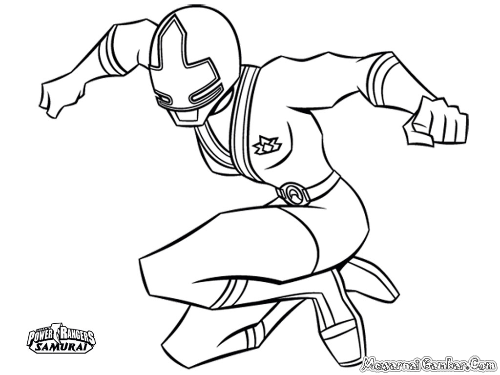 Gambar mewarnai power ranger mewarnai gambar for Power rangers samurai megazord coloring pages