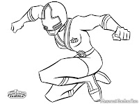 Yellow Power Ranger Samurai Coloring Pages