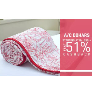 PayTM : Buy AC Dohar with Extra 51% Cashback