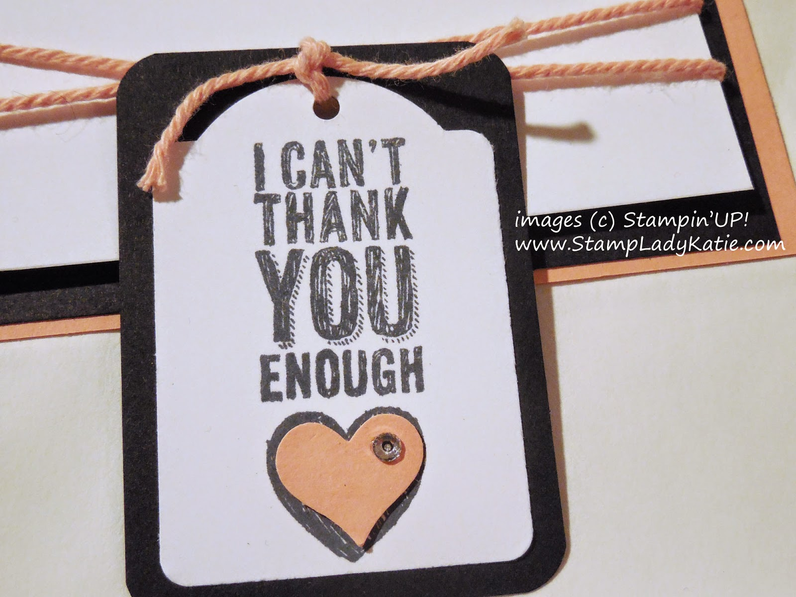 Tag made with Stampin'UP!'s Note Tag Punch and the stamped image from Chalk Talk