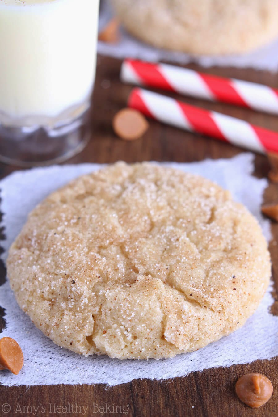 Eggnog Snickerdoodles, Amy's Healthy Baking, 106 calories