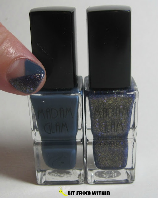 Bottle shot:  Madam Glam Underground Queen and Midnight Lover.