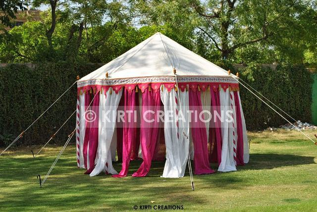 Handmade Garden Tents -In the small hut shape with pointed roof this kind of Garden Tent is in baby pink and white color of canvas which gives standard ... & Raj Tent-Tent Manufacturers: Raj Garden Tent And Its Various Facet
