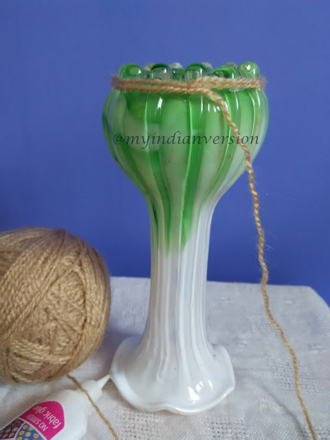 Diy : Yarn Wrapped Vase Tutorial - Step 2