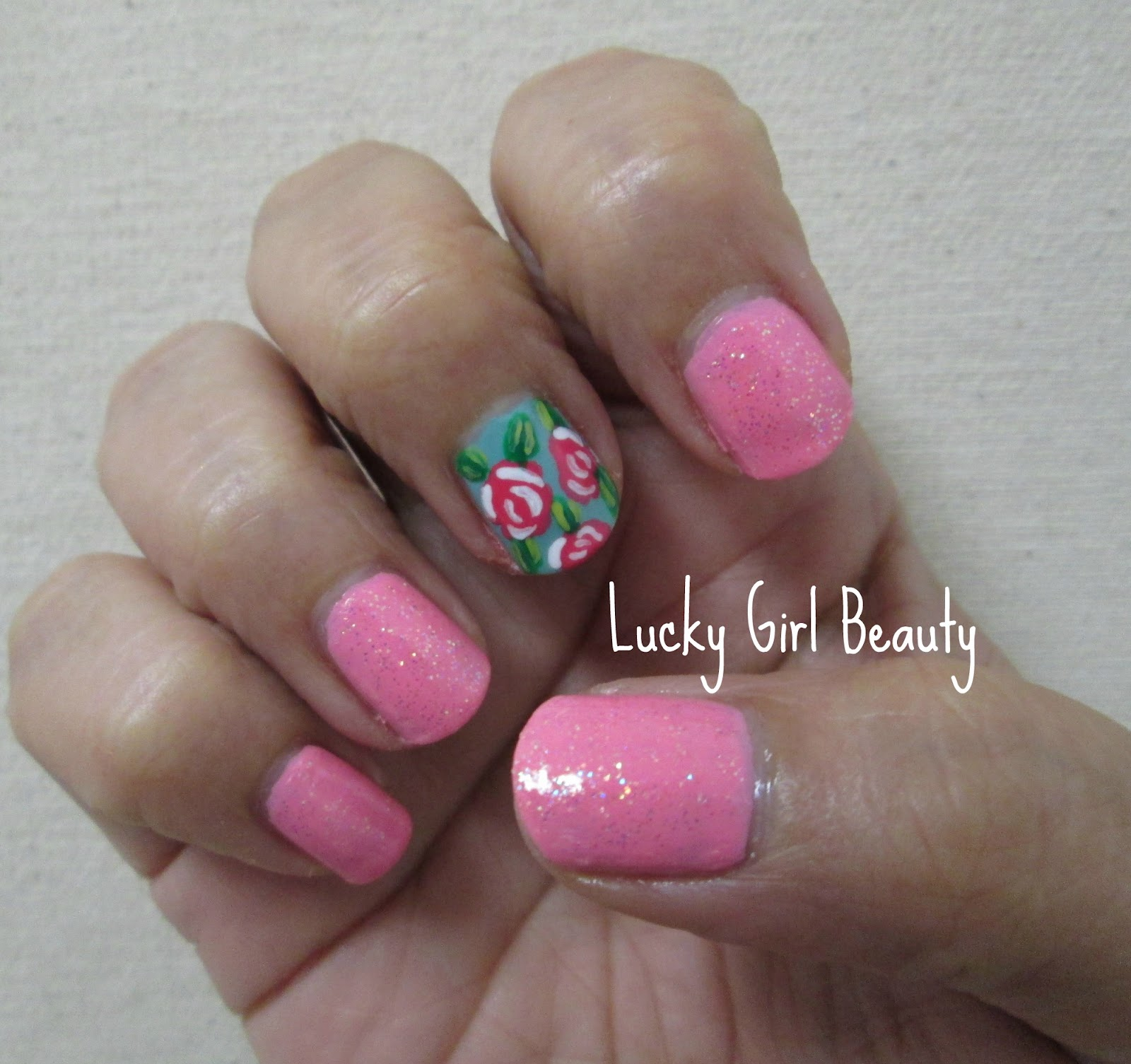 Lucky Girl Beauty: Mother\'s Day Nail Design 2012
