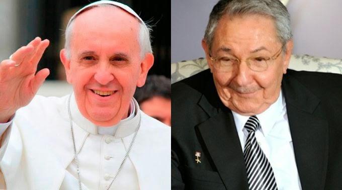 Papa Francisco receberá Raul Castro no Vaticano no próximo domingo