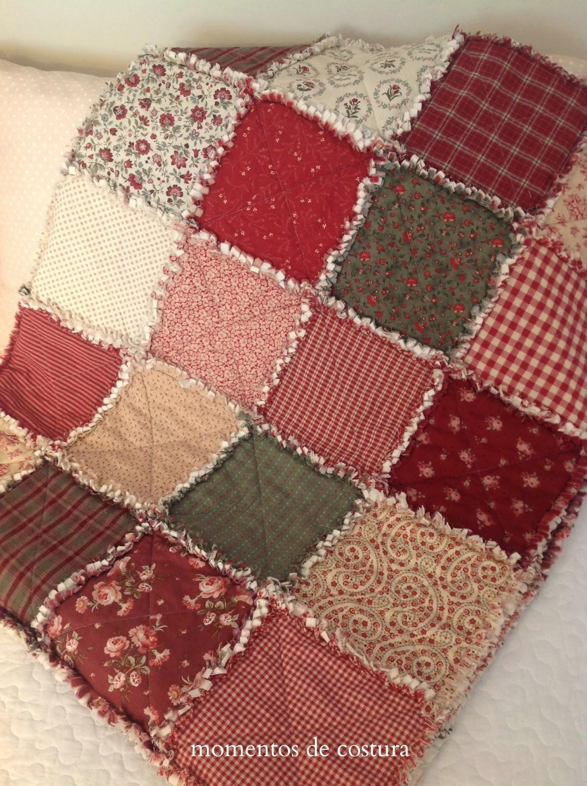 Momentos de costura mi manta rag quilt - Como hacer mantas de patchwork ...