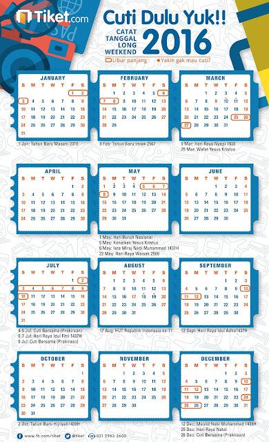Kalender Hari Libur Cuti Bersama Idul Fitri 2016