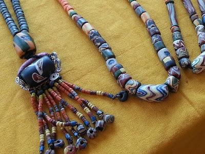 WireBliss - Closeup of Paiwanese Beads at BIBCO 2013