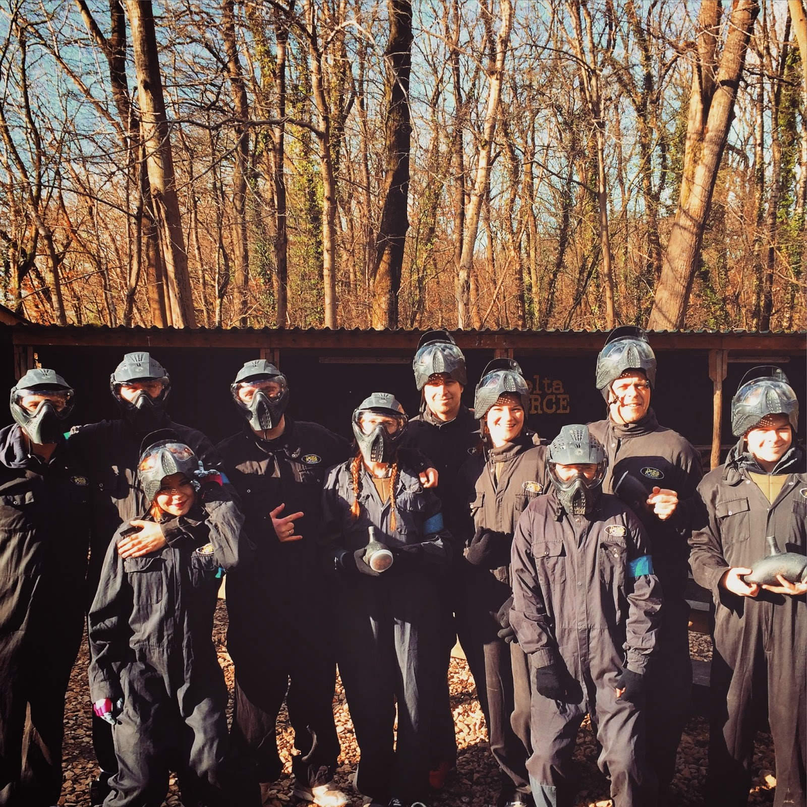 paintballing group