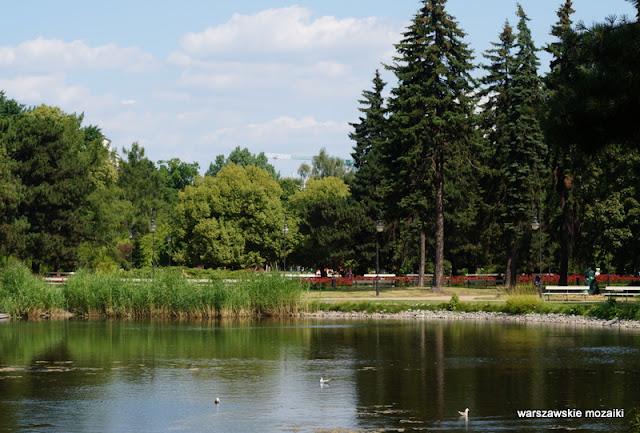 teren zielony Warszawa Ujazdów Warsaw Śródmieście parki warszawskie jeziorko