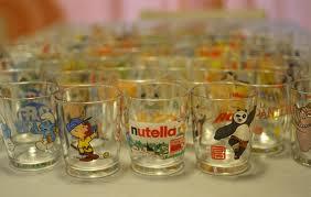 collezione bicchieri Nutella Ferrero
