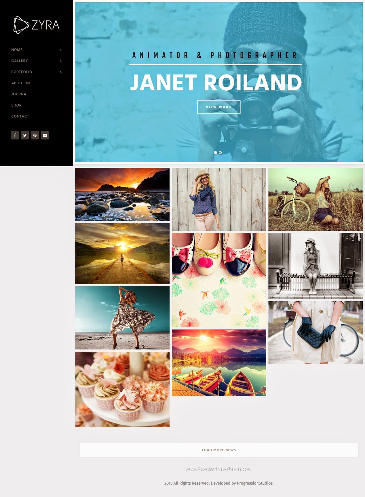 Best Responsive Photography WordPress Template 2015
