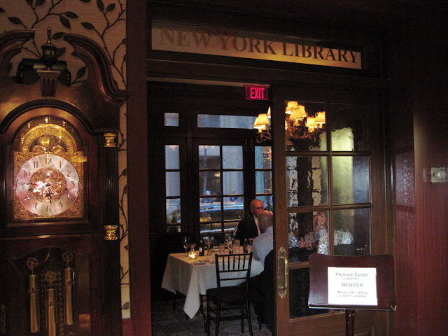 The New York Library also hosts dinner for the Iroquois Hotel