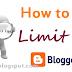 Giới hạn nên biết khi thiết kế blogspot