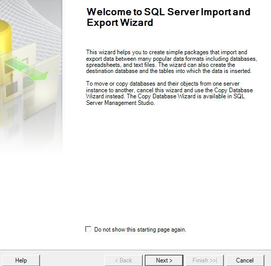 Import excel into sql server 2008