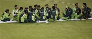 Pakistani Team Offering Prayer at Mohali